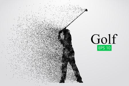 Silhouette di un giocatore di golf. Illustrazione vettoriale