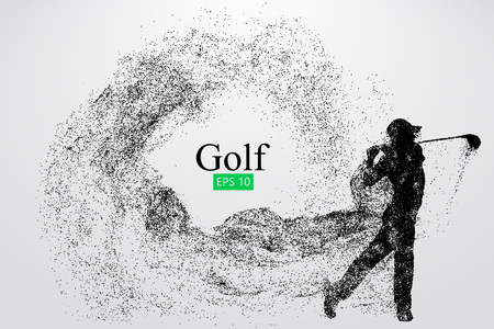 ゴルフ プレーヤーのシルエット。ベクトル図