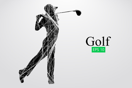 Silhouette of a golf player. Vector illustration Фото со стока - 78797281