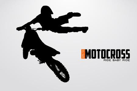 Motocross pilotes silhouette illustration vectorielle Banque d'images - 79222815