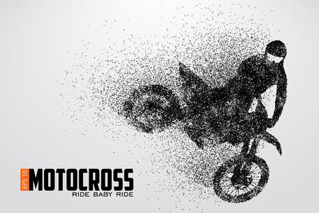 Motocross drivers silhouet. Vector illustratie Stock Illustratie