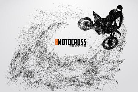 Motocross drivers silhouette. Vector illustration 版權商用圖片 - 79222941