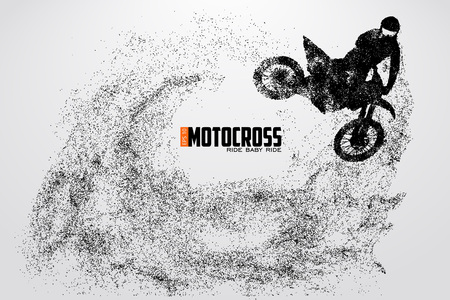 Motocross drivers silhouette. Vector illustration