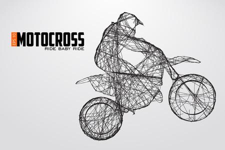 Motocross-Fahrer Silhouette. Vektor-Illustration