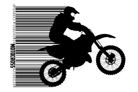 Motocross drivers silhouette. Vector illustration
