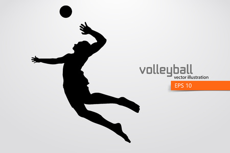 Silueta del jugador de voleibol.