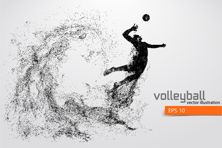Silhouette of volleyball player. Reklamní fotografie - 83553778