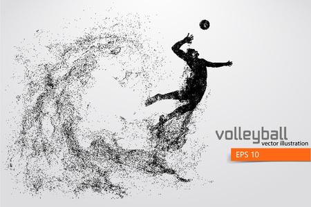 Silueta del jugador de voleibol. Foto de archivo - 83553778