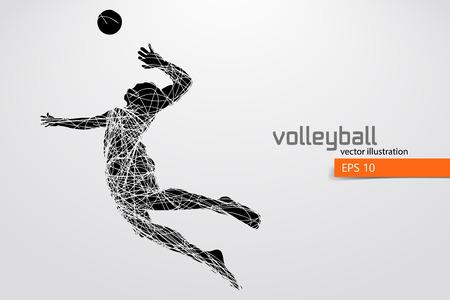Silhouette du joueur de volleyball. Banque d'images - 83553781