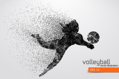 Silhouette of volleyball player. Stock Vector - 83553819
