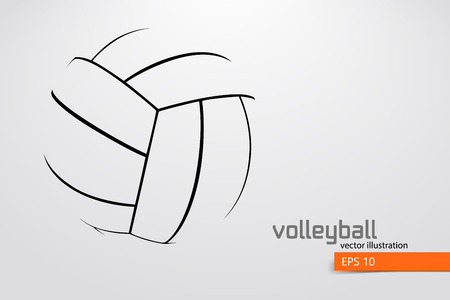Silhouette of volleyball ball. 版權商用圖片 - 83826295