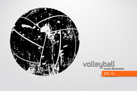 Silhouet van volleybalbal. Stockfoto - 83826297