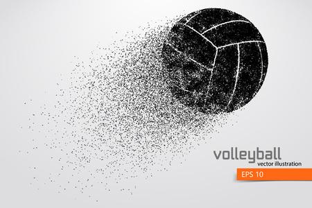 Silueta de la pelota de voleibol. Ilustración de vector