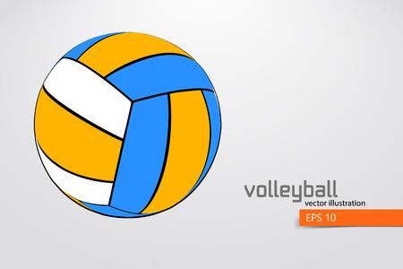 Silhouette of volleyball ball. Reklamní fotografie - 83826292