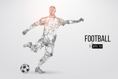 Silhouette of a football player from particles Zdjęcie Seryjne - 85810222