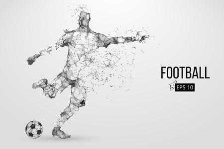 Silhouette eines Fußballspielers aus Partikeln Standard-Bild - 85810223