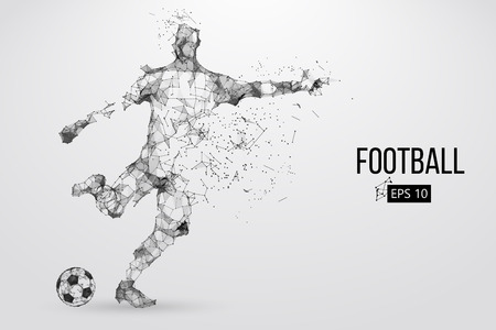 Silhouette of a football player from particles Stok Fotoğraf - 85810223