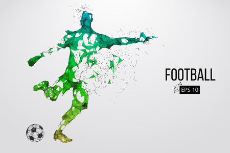 Silhouette d'un joueur de football à partir de particules Banque d'images - 85810225