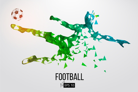 Silhouette of a football player from particles 版權商用圖片 - 85810229