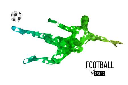 Silhouette d'un joueur de football à partir de particules Banque d'images - 85810230