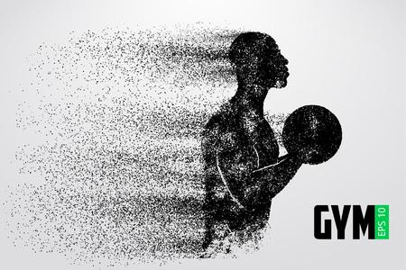 silhouette d & # 39 ; un logo de gymnastique kickboxer . vector illustration Logo