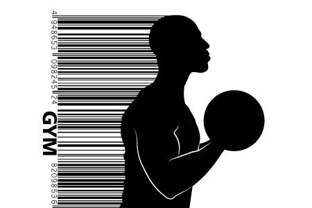 Silhouette eines Bodybuilders. Fitnessstudio Logo Vektor. Vektor-Illustration Standard-Bild - 88085112