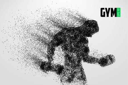 silhouette d & # 39 ; un logo de gymnastique kickboxer . vector illustration