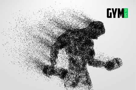Silhouette of a bodybuilder. gym logo vector. Vector illustration Vettoriali