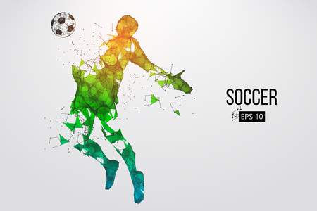 silhouette of a football player from particles. Vector illustration Stock Vector - 88542963