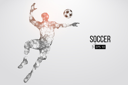 silhouette of a football player from particles. Vector illustration Zdjęcie Seryjne - 88542966