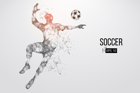 silhouette of a football player from particles. Vector illustration Stock Vector - 88543059