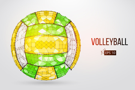 Silhouette of a volleyball ball. Vector illustration.