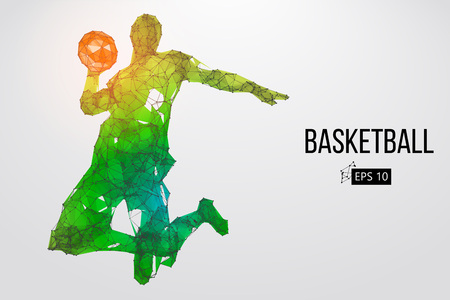Silhouette of a basketball player. Vector illustration Фото со стока - 99538741