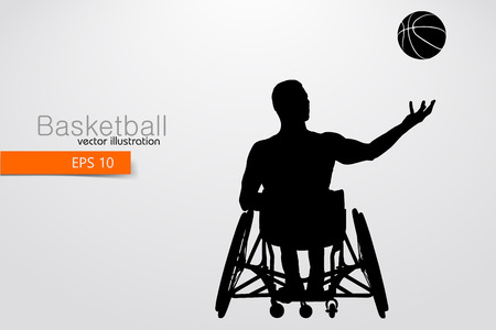 Basketball player disabled. Vector illustration 版權商用圖片 - 100015851