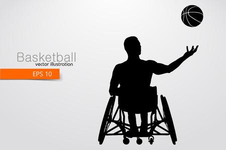 Basketbalspeler uitgeschakeld. Vector illustratie Vector Illustratie