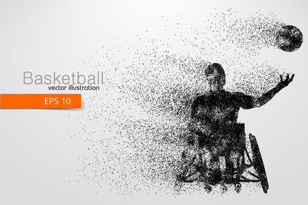 Basketball player disabled Vector illustration