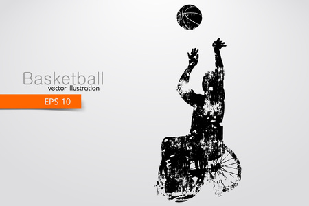 Basketball player disabled. Vector illustration