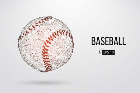 Silhouette of a baseball ball. Vector illustration 向量圖像