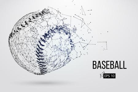 Silhouette of a baseball ball. Vector illustration 일러스트