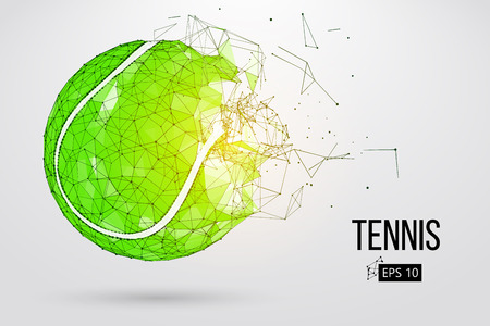 Silhouette of a tennis ball from particles.