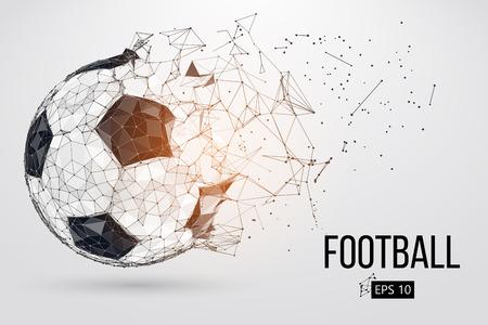 silhouet van een voetbalbal. Vector illustratie