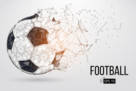 silhouette of a football ball. Vector illustration Stock fotó - 102003985