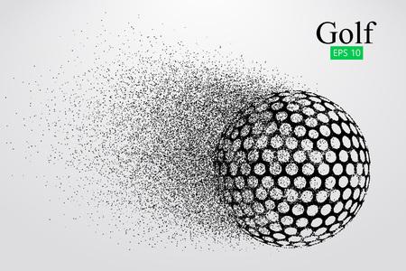 Silhouet van een golfbal. Vector illustratie Vector Illustratie