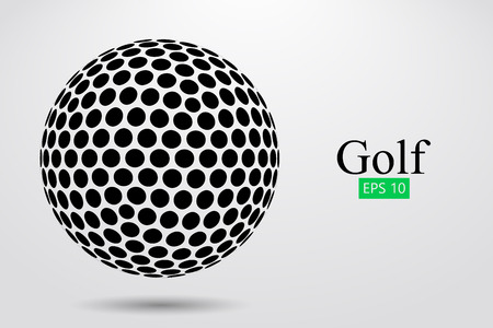 Silhouette of a golf ball. Vector illustration Stock Illustratie