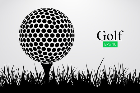Silhouette of a golf ball. Vector illustration  イラスト・ベクター素材