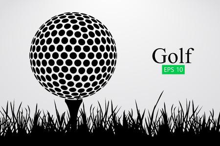 Silhouette of a golf ball. Vector illustration 向量圖像