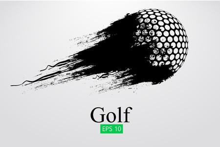 Sagoma di una pallina da golf. Illustrazione vettoriale