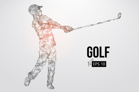 Silhouette of a golf player. Vector illustration Standard-Bild - 103121477