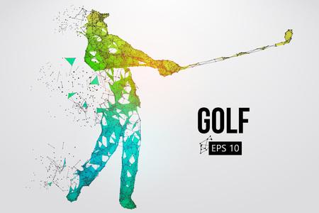 Sagoma di un giocatore di golf. Illustrazione vettoriale