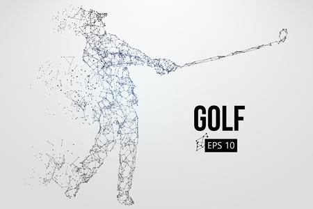 Sagoma di un giocatore di golf. Illustrazione vettoriale Vettoriali